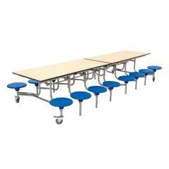 16 Seat Mobile Folding Table Seat Units
