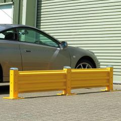 Steel Barrier System - In Use