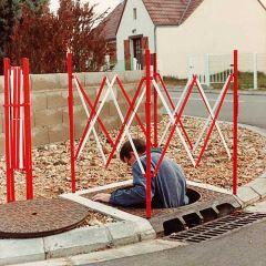 Steel Extending Isolation Barrier 1m square
