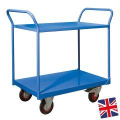Steel Shelf Trucks Blue UK