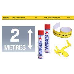 Social Distance Floor Stencil Kits - 2 Metres Arrow