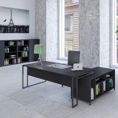 Stricto Straight Desks - Black with Black