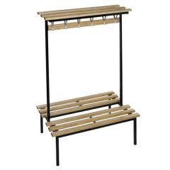 Studio Double Sided Bench - Wooden Shelf