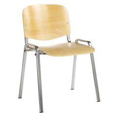 Beech Effect Chair - Stackable