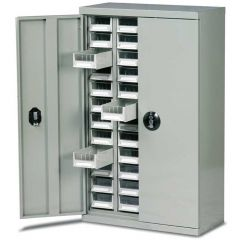 48 Drawer Cabinet With Doors - H970mm x W586mm x D270mm - 72kg Capacit