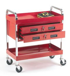 Tool Trolley with 2 Drawers & 2 Trays