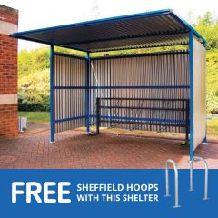 Traditional Cycle Shelter with free hoops