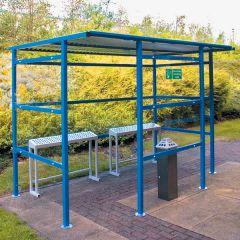 Traditonal Smoking Shelters - 3 Perspex Sides