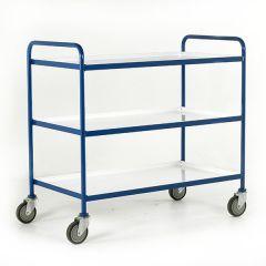 3 Shelf Trolleys - White Shelves