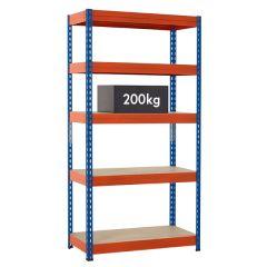 TUFF Shelving 200kg - Blue & Orange