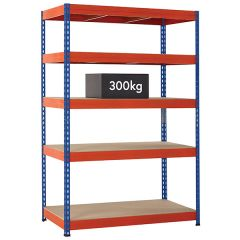 TUFF Shelving 300kg - Blue & Orange