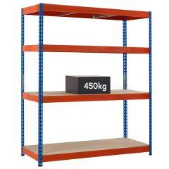 TUFF Shelving 450kg - Blue & Orange