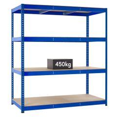 TUFF Longspan Shelving 450kg - Blue