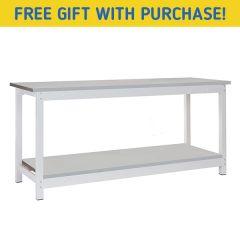 TUFF Heavy Duty Storage Workbenches - Bench Only & Lower Shelf
