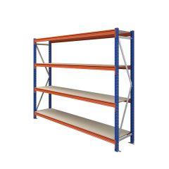TUFF Longspan Shelving 2mtr High 4 Shelves