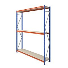 TUFF Longspan Shelving 3mtr High 3 Shelves