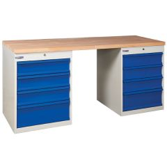 TUFF Pedestal Bench - 2 x 4 Drawers