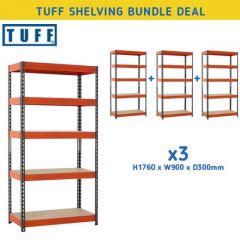 TUFF Shelving Bundle Deal- 200kg UDL