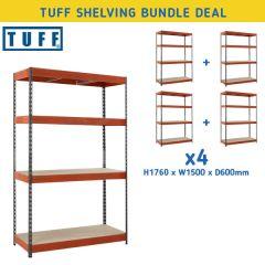 TUFF Shelving Bundle Deal - 300kg UDL - W1500mm