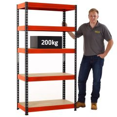TUFF 200 Shelving with 200kg load capacity (UDL) per shelf