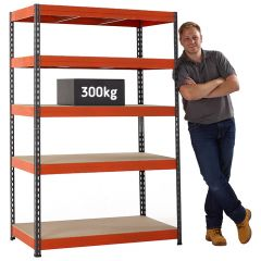 TUFF Value 300 shelving with 300kg load capacity per shelf (UDL)