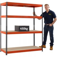 TUFF 450 Shelving (450kg UDL) with free next day delivery.