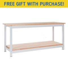 TUFF Woodworking Workbenches with Lower Shelf