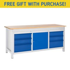 TUFF Woodworking Workbenches - Cupboards & Drawers