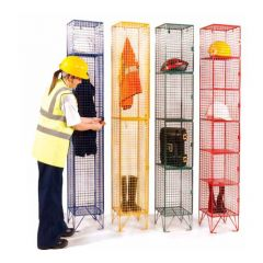 TUFF Mesh Lockers in use