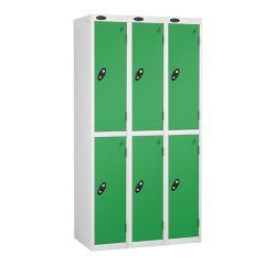 Probe Two Door - Nest of 3 - White Carcass - Green Door
