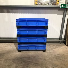 Euro Container with Fork Entry Shoes