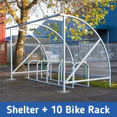 Vivo Cycle Shelter + 10 Bike Rack Deal