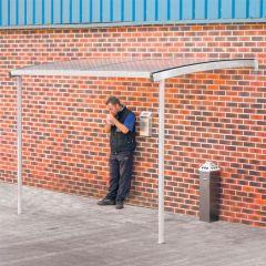 Wall Mounted Smoking Shelter - Grey