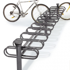 6 Space Double Sided Bicycle Rack