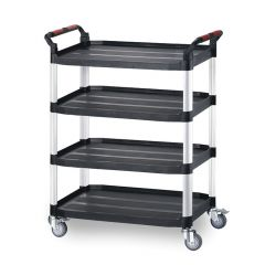 Utility Tray Trolleys - 4 Shelf