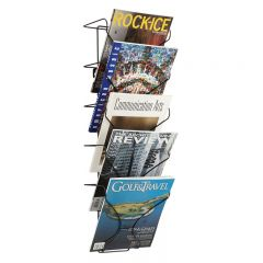 Wire Wall Mounted Literature Dispenser - 5x A4 Pocket