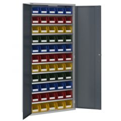 Workshop Cupboard with 66 No. 3 Bin Containers