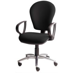 X Range Ergonomic Operator Chair - Ring Arms + Grey