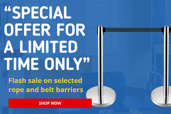 Clearance Sales on Belt & Rope Barriers