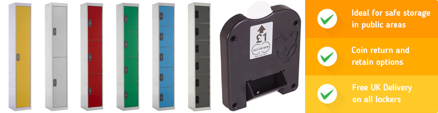 Coin Operated Lockers for secure storage