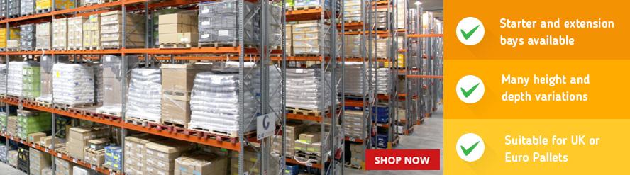 Shop Industrial Racking for UK & Euro Pallets