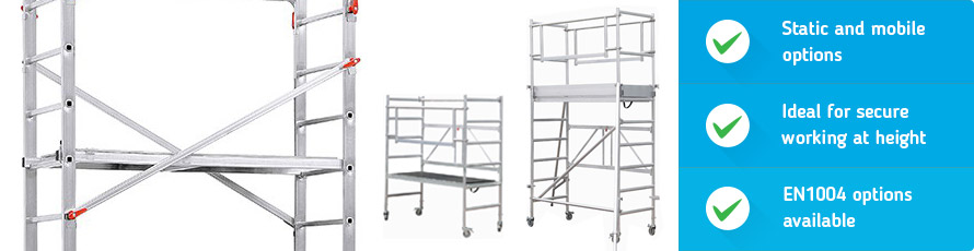 Work and Scaffold Towers are an ideal solution for safe working at height