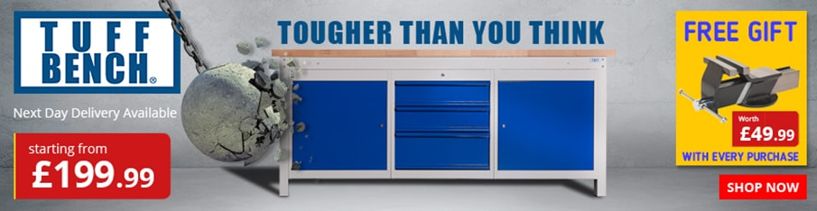 Shop our New TUFF Heavy Duty Storage Workbenches