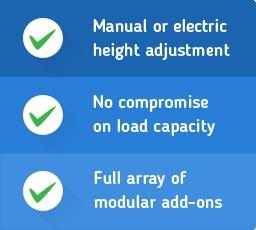 Reasons to buy height adjustable workbench