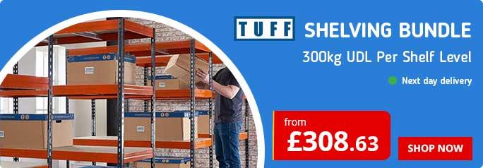 TUFF 300kg Shelving Bundle