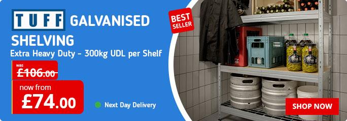 E3 Galvanised Shelving