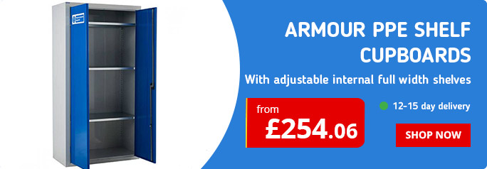Shop our best selling Armour PPE Shelf Cupboards