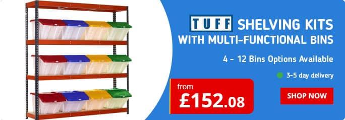TUFF Shelving Kits with Bins