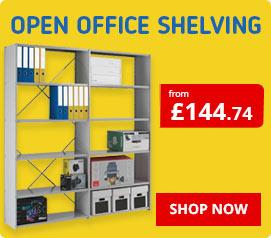 Open Back Office Shelving