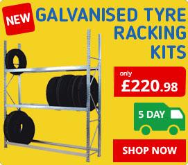 Heavy Duty Galvanised Tyre Racking